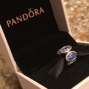 Pandora Blue Oval Lights Charm
